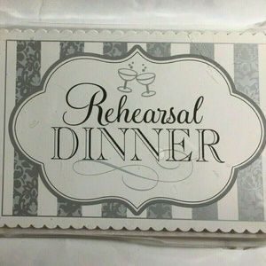Amscan Wedding Rehearsal Dinner INVITATIONS 20Pk